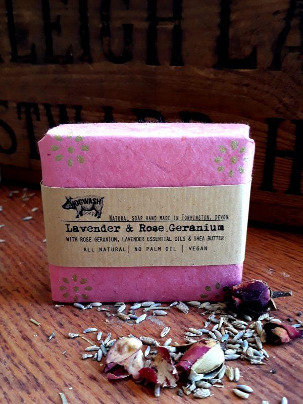 Lavender and Rose Geranium soap