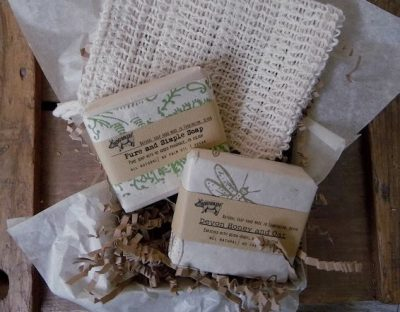 Fragrance Free soap and sisal bag