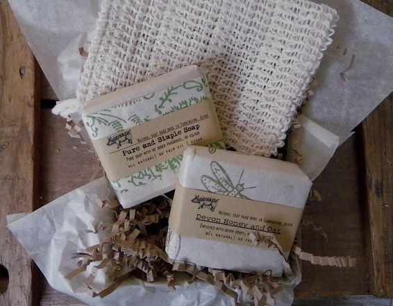 Fragrance Free soap and sisal bag